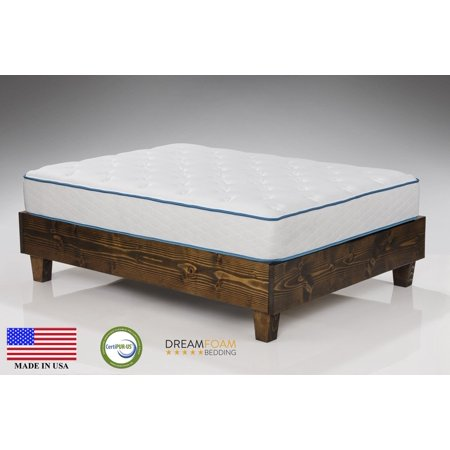"Dreamfoam Bedding Arctic Dreams 10"" Fast Response Cooling Gel Mattress Made in the"