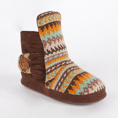 MUK LUKS Women's Jaci Desert Fairisle Bootie Slippers