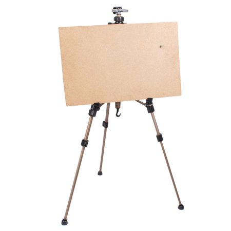 "Ktaxon 23"" Tripod Easel, Height Adjustable Lightweight Folding Portable Telescoping Tripod Floor Art Easel Stand for Office Studio Painting Posters White Board Display, Perfect for Children Drawing &"