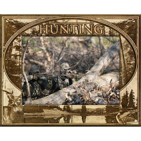 Giftworks Plus SPR2006 Hunting, Alder Wood Frame, 4 x 6 In thumbnail