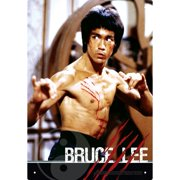 Bruce Lee Fight Tin Sign,  Male Movie Stars by NMR Calendars