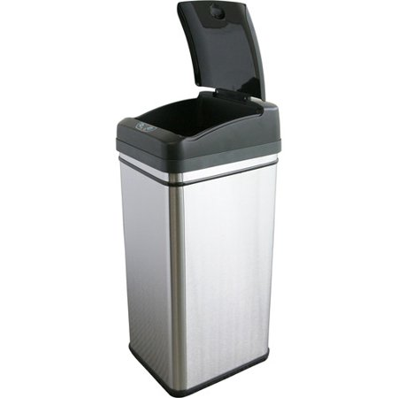 iTouchless 13 Gallon Touchless Sensor Kitchen Trash Can ...