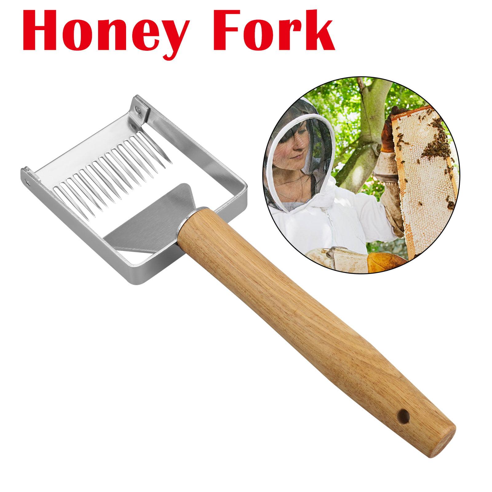 Beekeeping Honeycomb Honey Scraper-Food Degree Stainless Steel Blade /& Wood Handle Honey Uncapping Fork Honey Frame Uncapping Equipment
