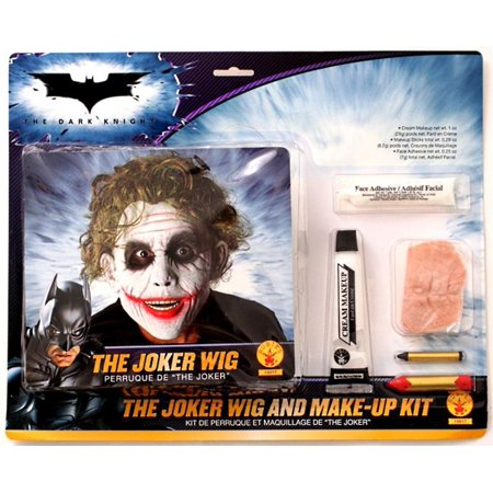 522f56b03 The Joker Deluxe Wig and Makeup Kit The Dark Knight Heath Ledger Batman  Movie - image ...