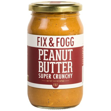 Gourmet Chunky peanut butter. Handmade in New Zealand. All natural and Non-GMO from Fix & Fogg. Extra Crunchy. Vegan, Keto friendly. Superior tasting peanut butter in beautiful canister