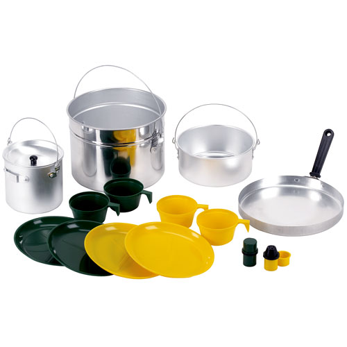 Stansport 4-Man 16-Piece Aluminum Cook Set by Stansport