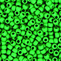Creativity Street Plastic Pony Beads, 6 x 9 mm, Green, Pack of 1000