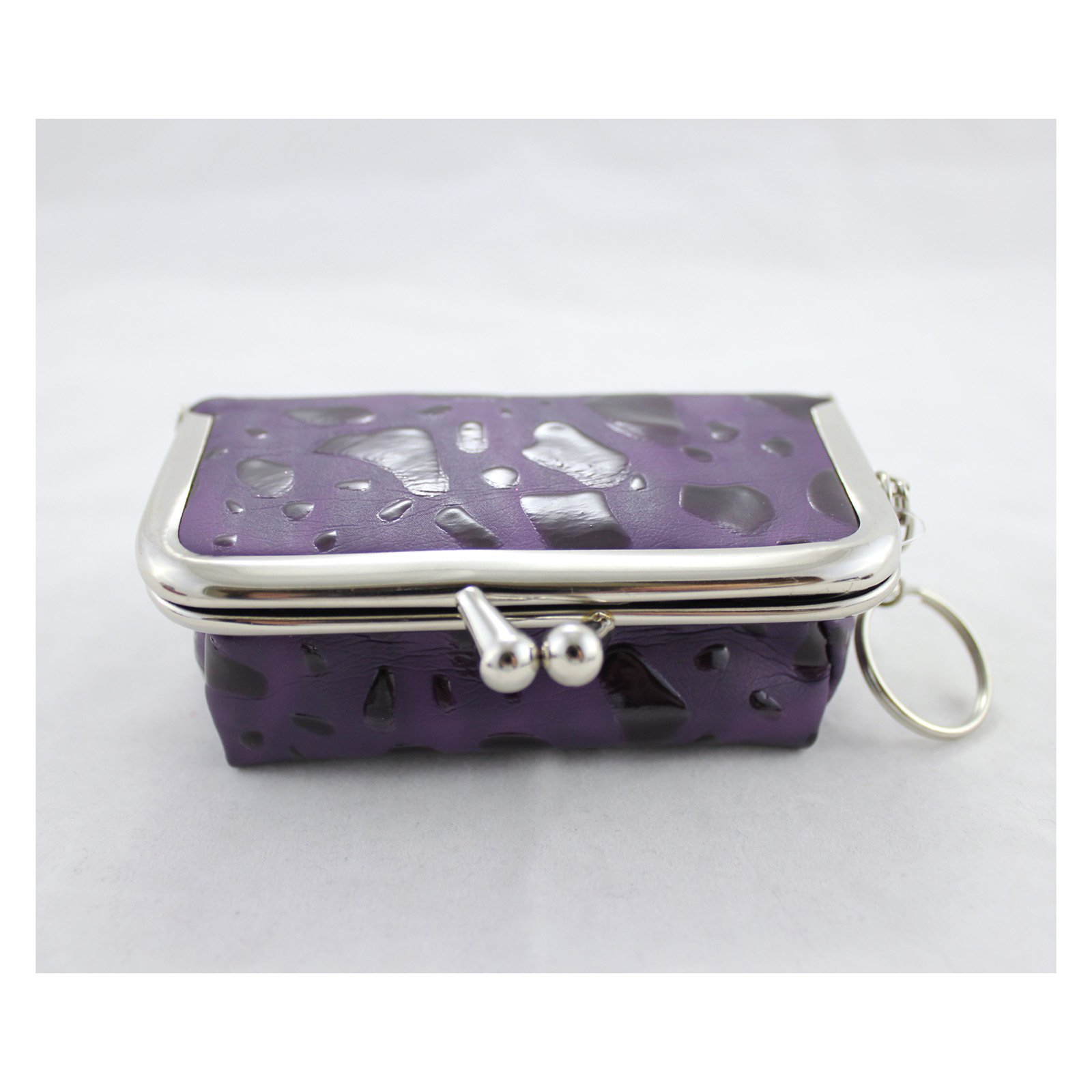Rectangle Locket Jewelry Travel Case - Purple - 4L x 2.6W in.