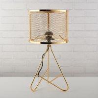Urban Shop Perforated Gold Metal Tripod Lamp