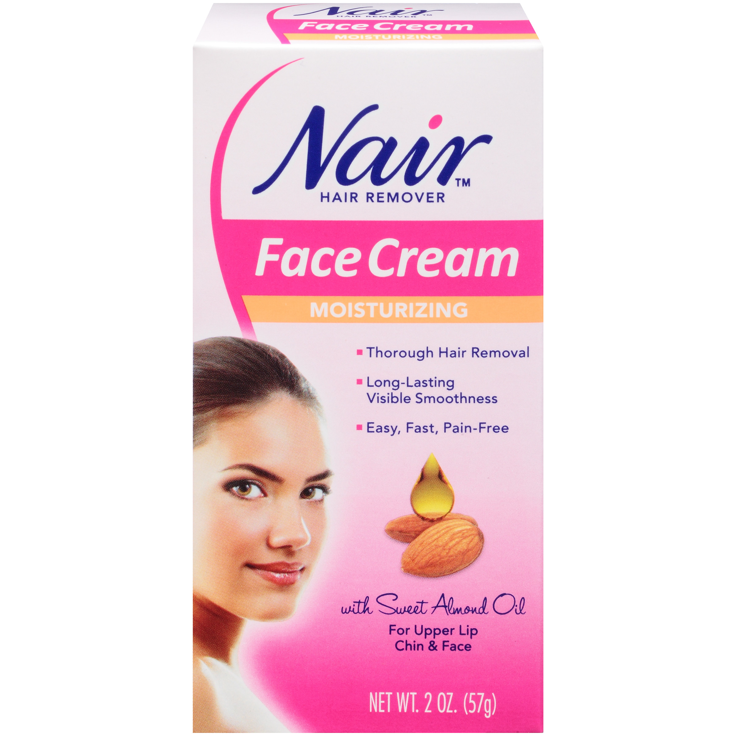 Nair Hair Remover Moisturizing Face Cream With Sweet Almond Oil