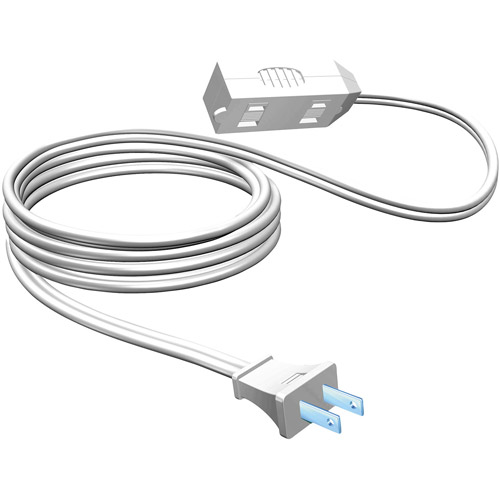 15' White Stanley 3 - Outlet Indoor Extension Cord