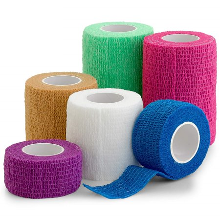 Cohesive Tape (6 Pack, Self Adherent Cohesive Tape - 1