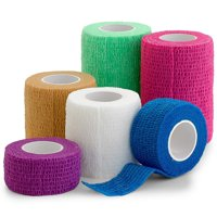 """6 Pack, Self Adherent Cohesive Tape - 1"""" 2"""" 3"""" x 5 Yards Combo Pack, Self Adhesive Bandage Rolls & Sports Athletic Wrap for Ankle, Wrist, Sprains and Swelling, Vet Wraps in Neon Colors - FDA Approved"""