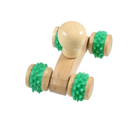 Manual Pushing Wooden Massage Roller Muscles Relax Handheld (Best Manual Foot Massager)