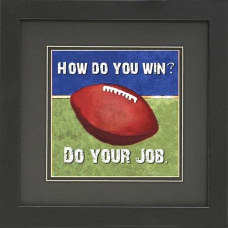 Professionally Framed Football With Quote From Bill Belichick Art Poster Print Famous Quote Motivational Sports Great Art  12   X 12       By Buyartforless Ship From Us