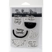 Two Paper Divas Clear Stamps 7 Inch X 4.5 Inch-Melon Love