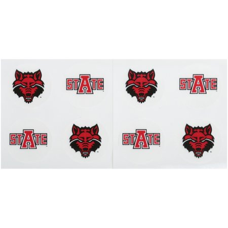 Arkansas State Peel & Stick Tattoos 8 ct Carded - Cards Tattoo