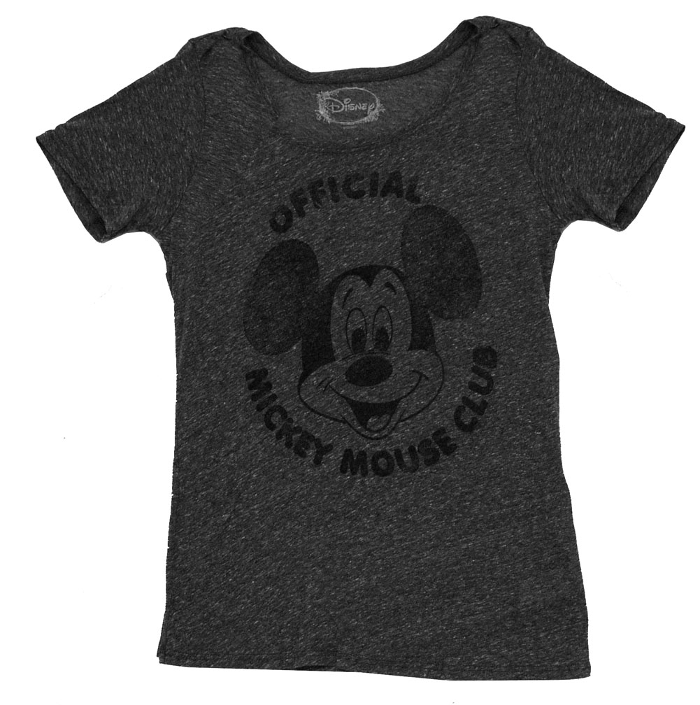 Mickey Mouse Club Disney Vintage Style Soft Juniors Babydoll T-Shirt Tee