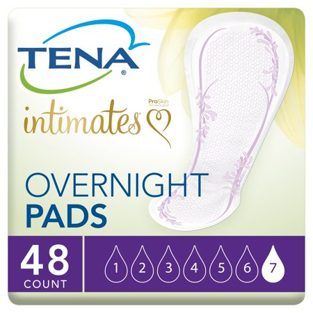 Tena Incontinence Pads, Overnight, 48 Ct