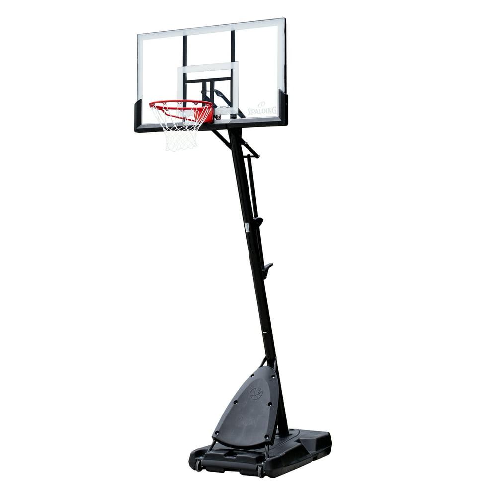 "Spalding 54"" Polycarbonate Portable Basketball Hoop"