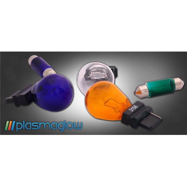 "PlasmaGlow 1157-BL 4.3"" x 3.5""x 1"" Glass Lamps Lighting & Ceiling FansBulb - Blue"