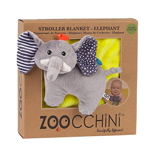ZOOCCHINI Stroller Buddy Blanket, Elephant/Yellow