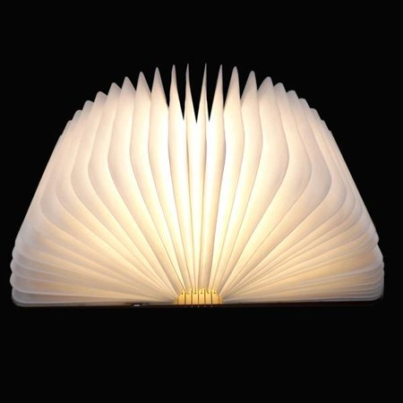 Portable Wooden Folding LED Flip Book Lamp Magnetic Night Light Warm Light/ Cold White STDTE