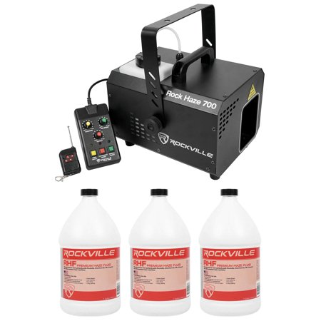 Dmx Haze Machine - Rockville ROCKHAZE 700 CFM DMX Water Based DJ/Club Haze Machine+(3) Gal Fluid