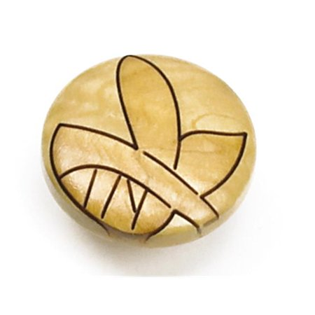 Maple Landmark Wood (Laurey 30813 1.38 in. Round Wood Knob - Maple Leaf )