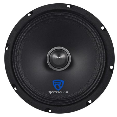 "Rockville RXM88 8"" 250w 8 Ohm Mid-Bass Driver Car Speaker Made w/ Kevlar Cone"