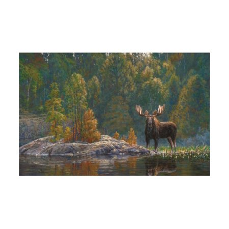North Country Moose Print Wall Art By Bruce Miller