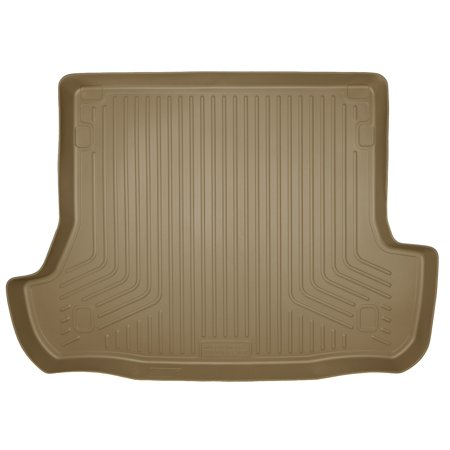 Husky Custom Molded Cargo Liners - Husky Liners 25743 WeatherBeater Cargo Liner; Tan; Fits Behind 2nd Seat Over Folded Flat 3rd Row Seats;