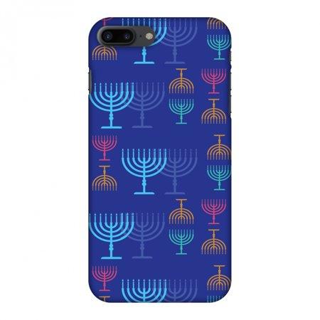 iPhone 7 Plus Case - Hanukkah Pattern 2, Hard Plastic Back Cover. Slim Profile Cute Printed Designer Snap on Case with Screen Cleaning Kit](Hanukkah Accessories)