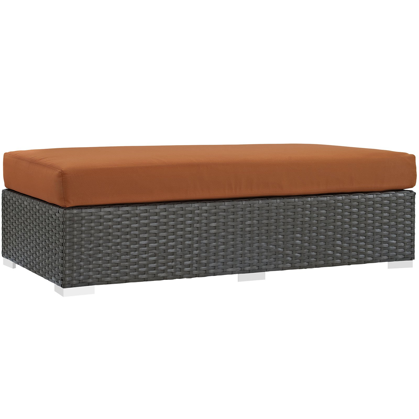 Modway Sojourn Outdoor Patio Fabric Sunbrella Rectangle Ottoman, Multiple Colors