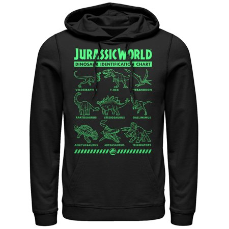 Jurassic World: Fallen Kingdom Men's Jurassic World Fallen Kingdom Dinosaur Identification Card Hoodie