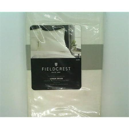 Lightweight Linen Pillow Sham - Fieldcrest - Cream - (Euro Lines)