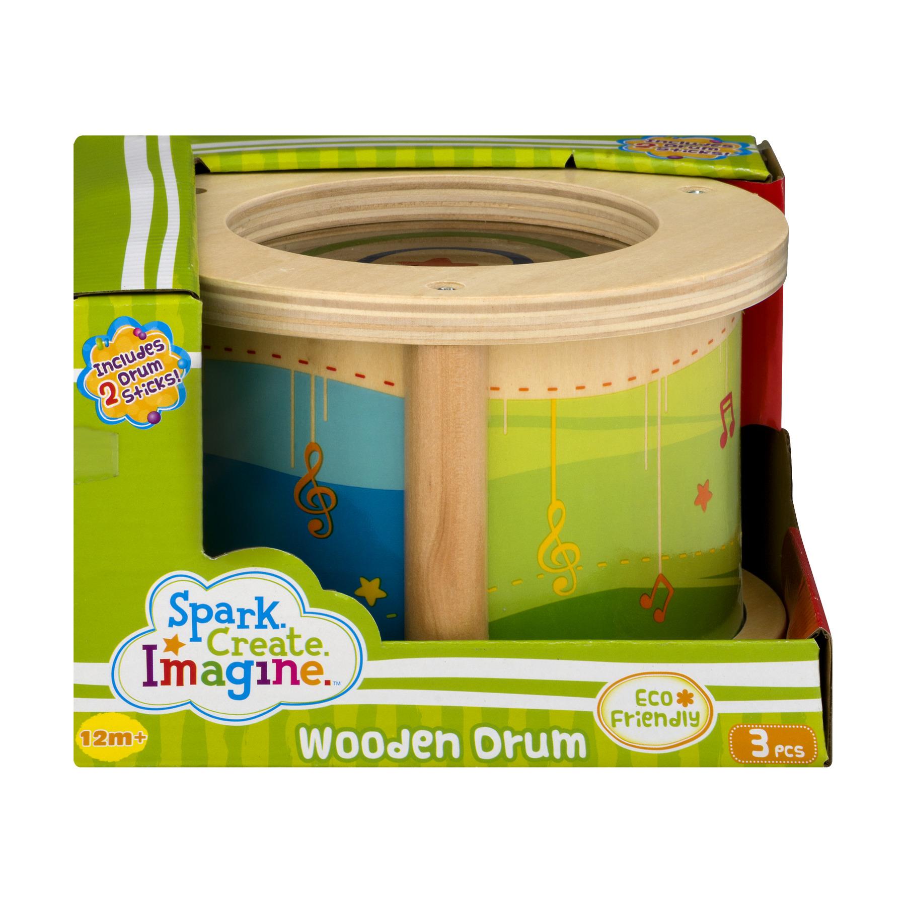 Spark Create Imagine Wooden Drum, 3.0 PIECE(S)