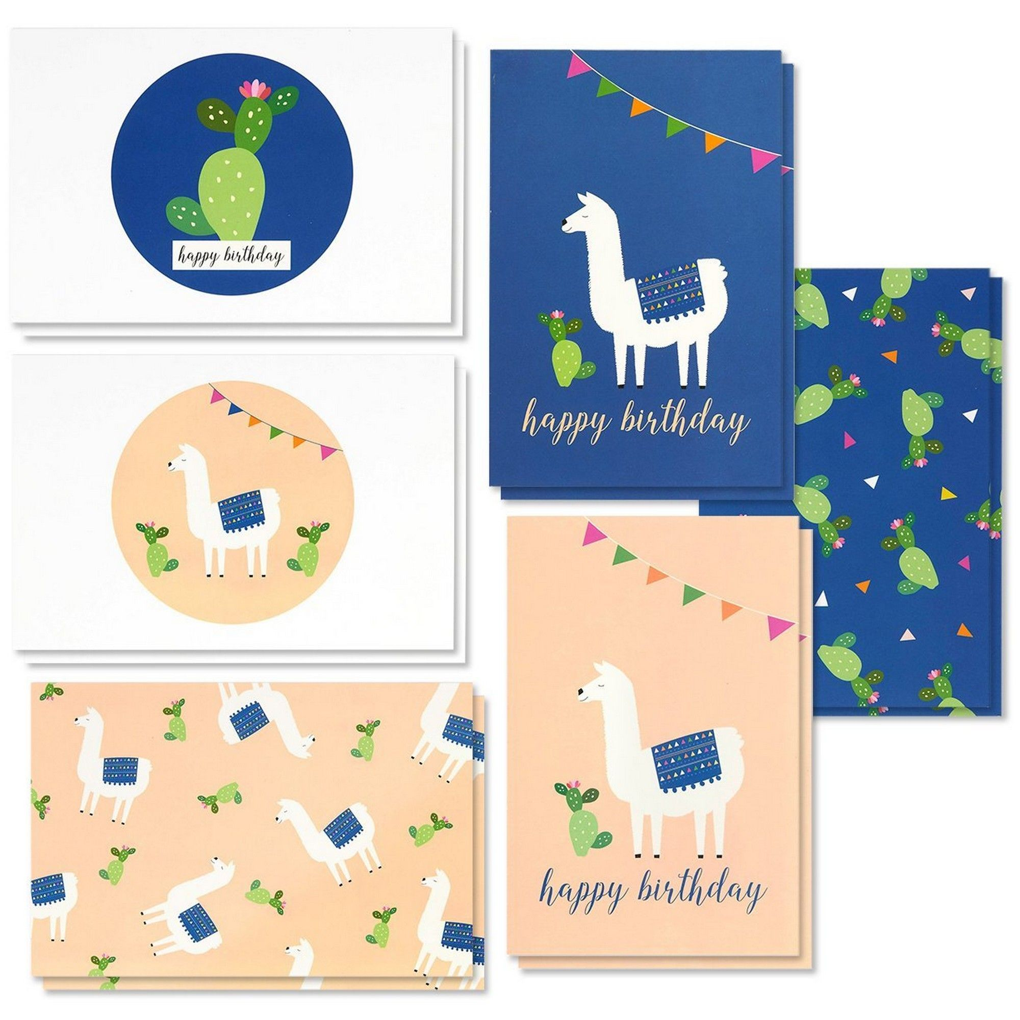 48-Count Happy Birthday Cards Assortment With Envelopes