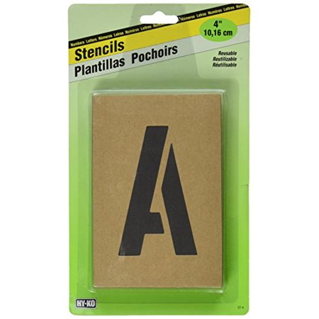 Hy-Ko ST-4 Number & Letter Stencils Reusable, Water Resistant, 4