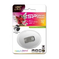 32GB Silicon Power Jewel J50 USB3.0 Zinc-Alloy Compact USB Flash Drive Titanium Edition