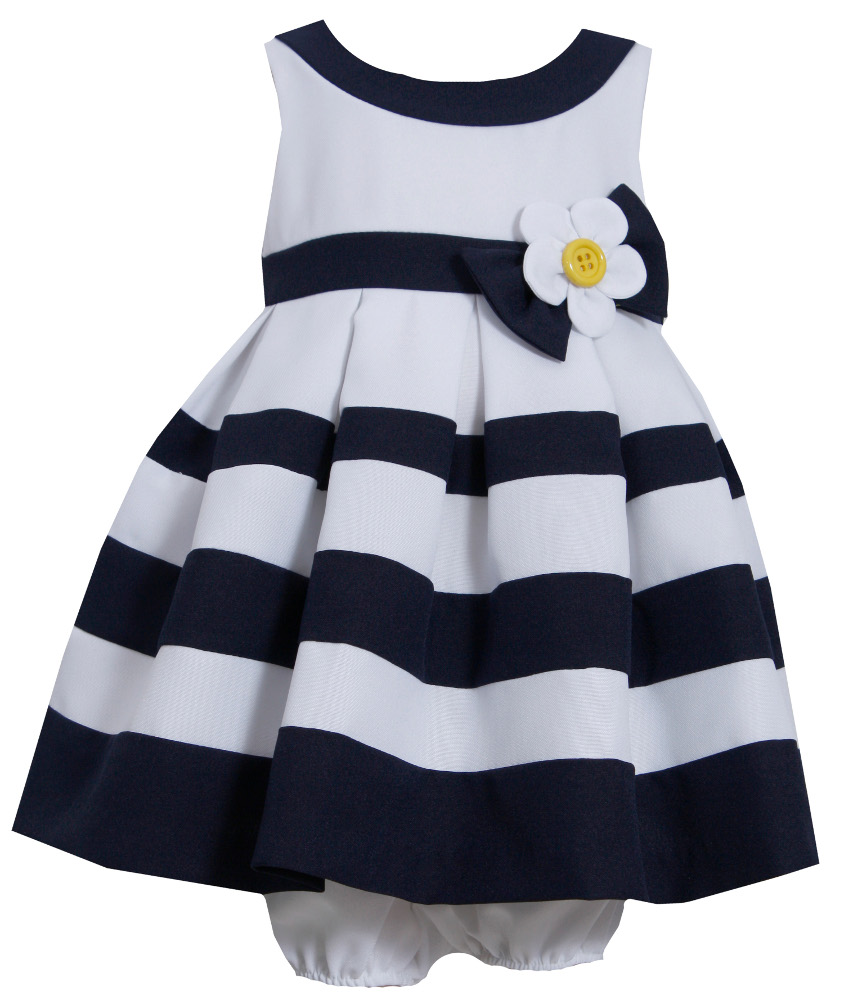3f87abc281c1 Bonnie Jean - Toddler Girls Nautical Banding Dress Easter Dress 2T ...