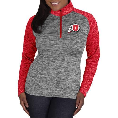 NCAA Utah Utes Ladies 1/4 Zip Athletic-Fitness Pullover
