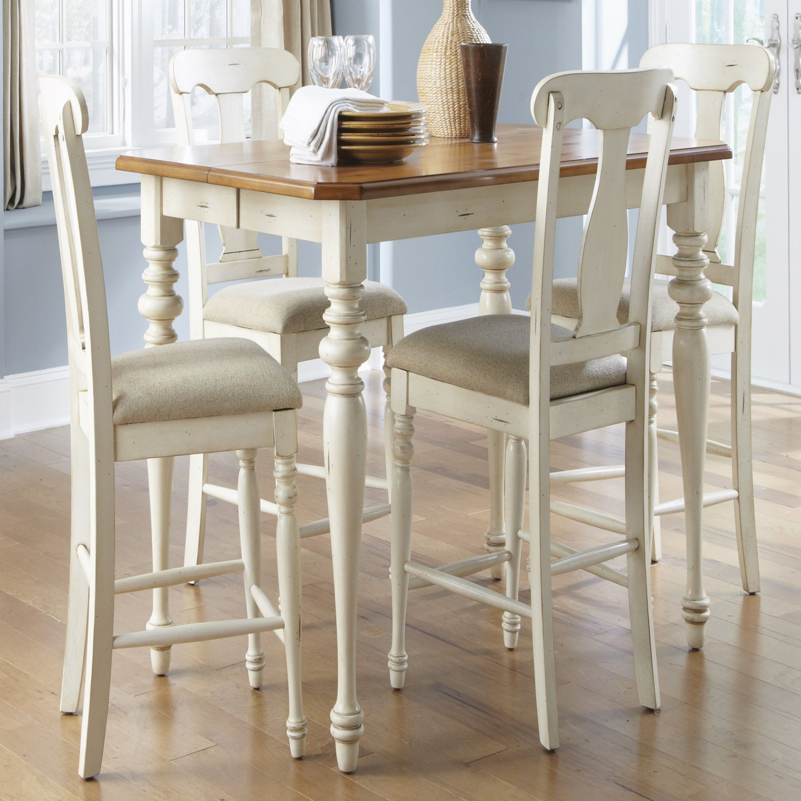 Liberty Furniture Ocean Isle 5 pc. Counter Height Set with Splat Back Chairs