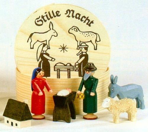 Dwg4-070019 Nativity Scene German Erzgebirge Handcrafted ...