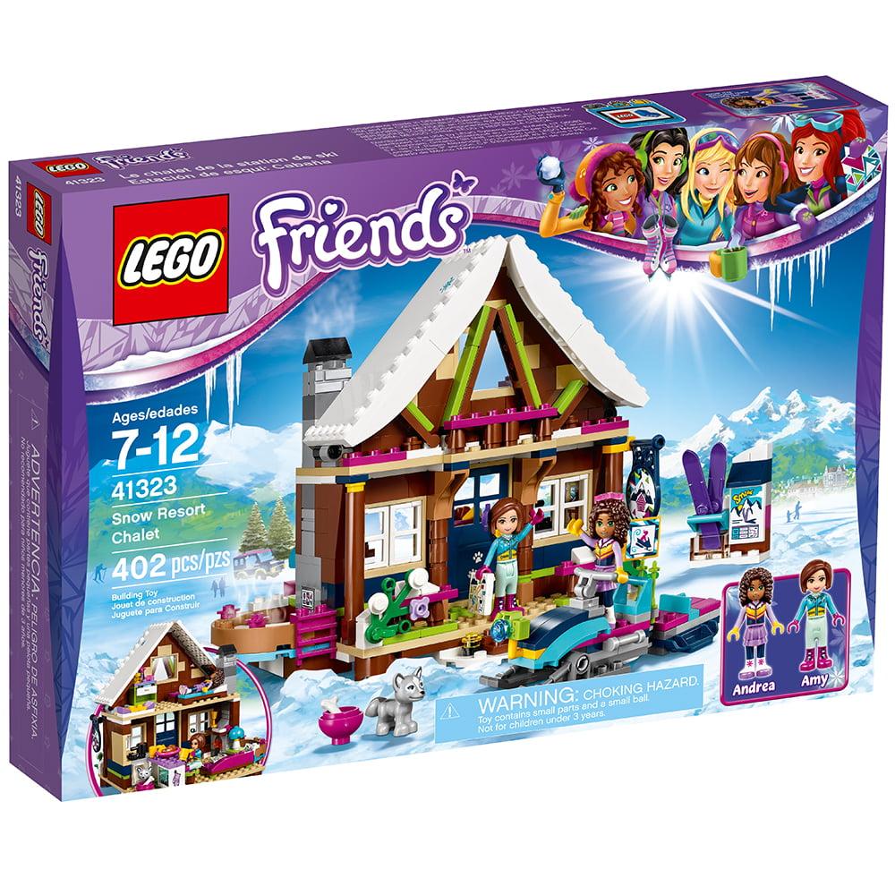 lego friends snow resort chalet 41323 (402 pieces) - walmart
