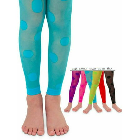 Hot Girl Tights (Lake Country Boutique Girls Sheer Polka Dot Footless Tights for ages 2 to)