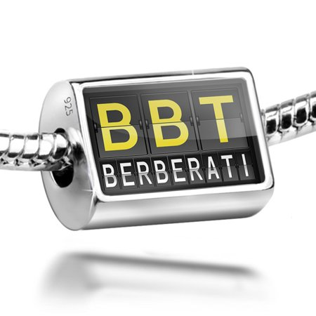 Bead Bbt Airport Code For Berberati Charm Fits All European Bracelets
