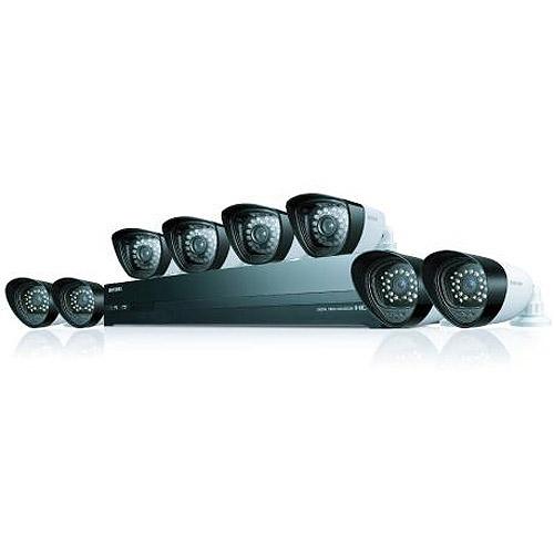 Samsung 16-Channel 720p HDTV Hybrid DVR 8-Camera Security System