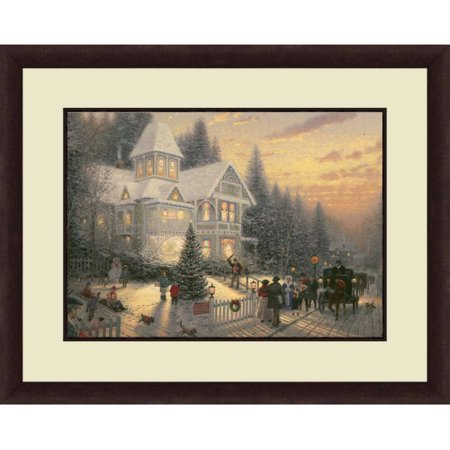 Thomas Kinkade,Victorian Christmas, 20x16 Decorative Wall Art ()