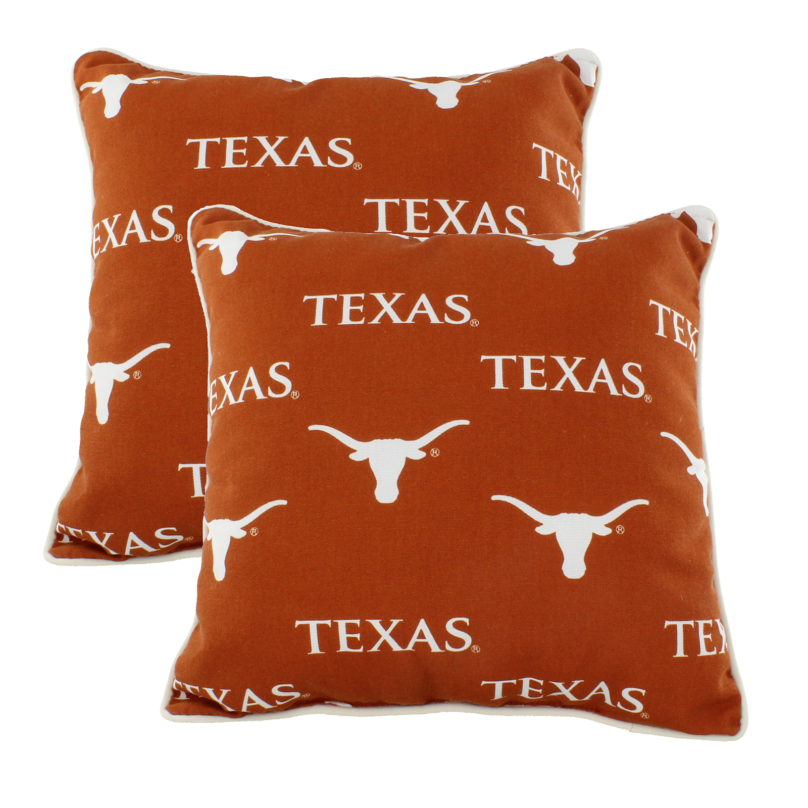 Texas Longhorns College Covers Indoor Or Outdoor Decorative Pillow Pair 16 In X 16 In Walmart Com Walmart Com